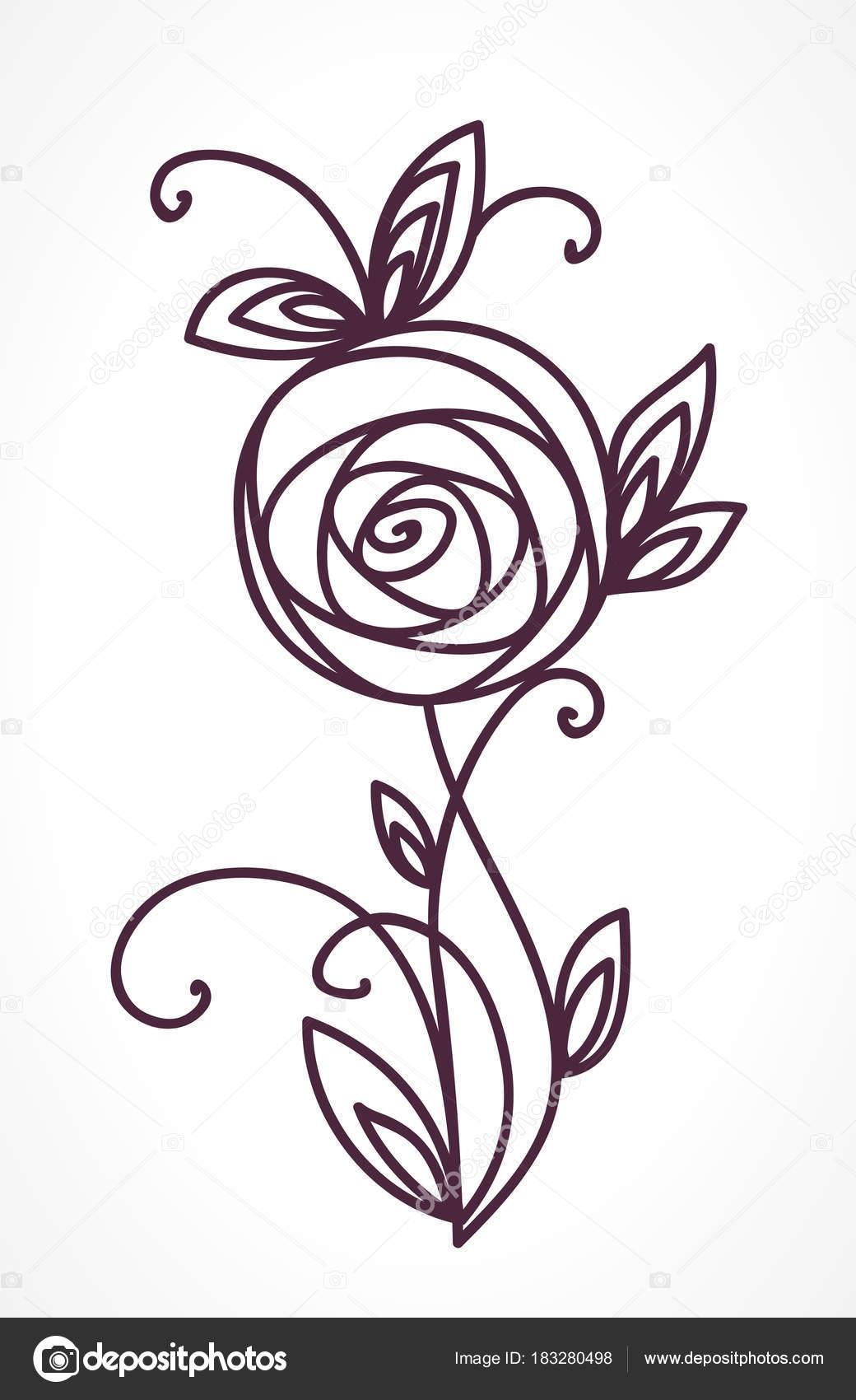 Main de bouquet de fleurs stylisées de dessin \u2014 Image vectorielle