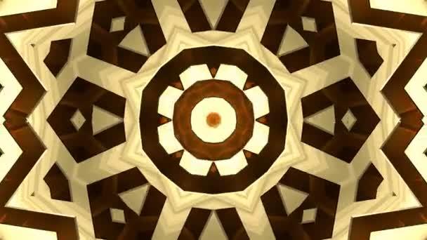 4k barevné opakování kaleidoskop posloupnost zlaté vzory