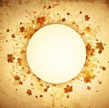 Autumn Round Grunge Frame