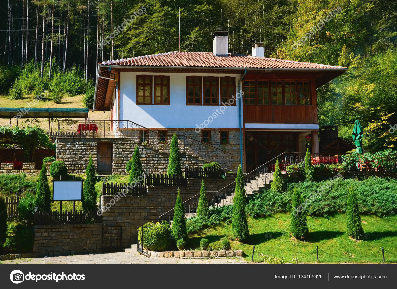 House On Hill Slope Stock Editorial Photo S
