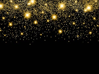 Holiday Golden Star Night Background