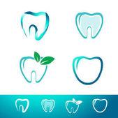 Fotografie Dental Tooth Logo Set