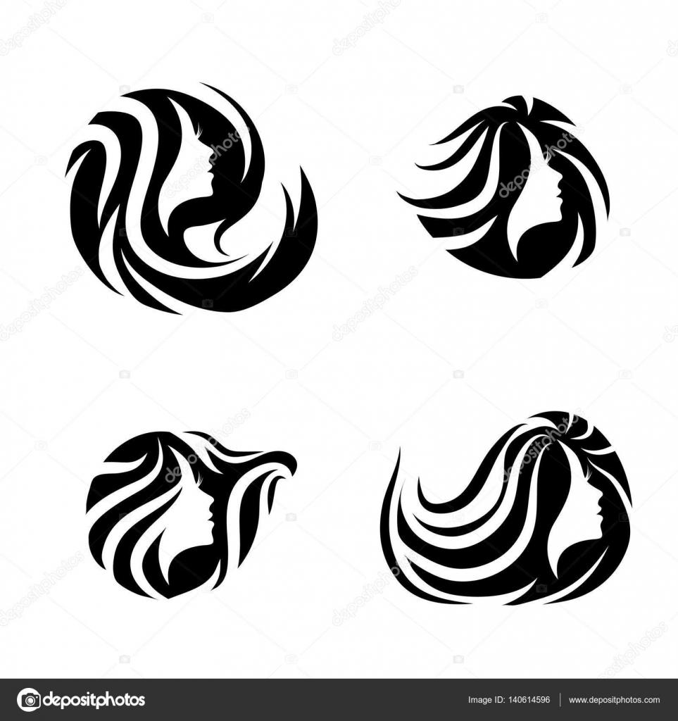 Woman Beauty Hair Spa Salon Logo Design Set Stock Vector C S Razvodovskij 140614596