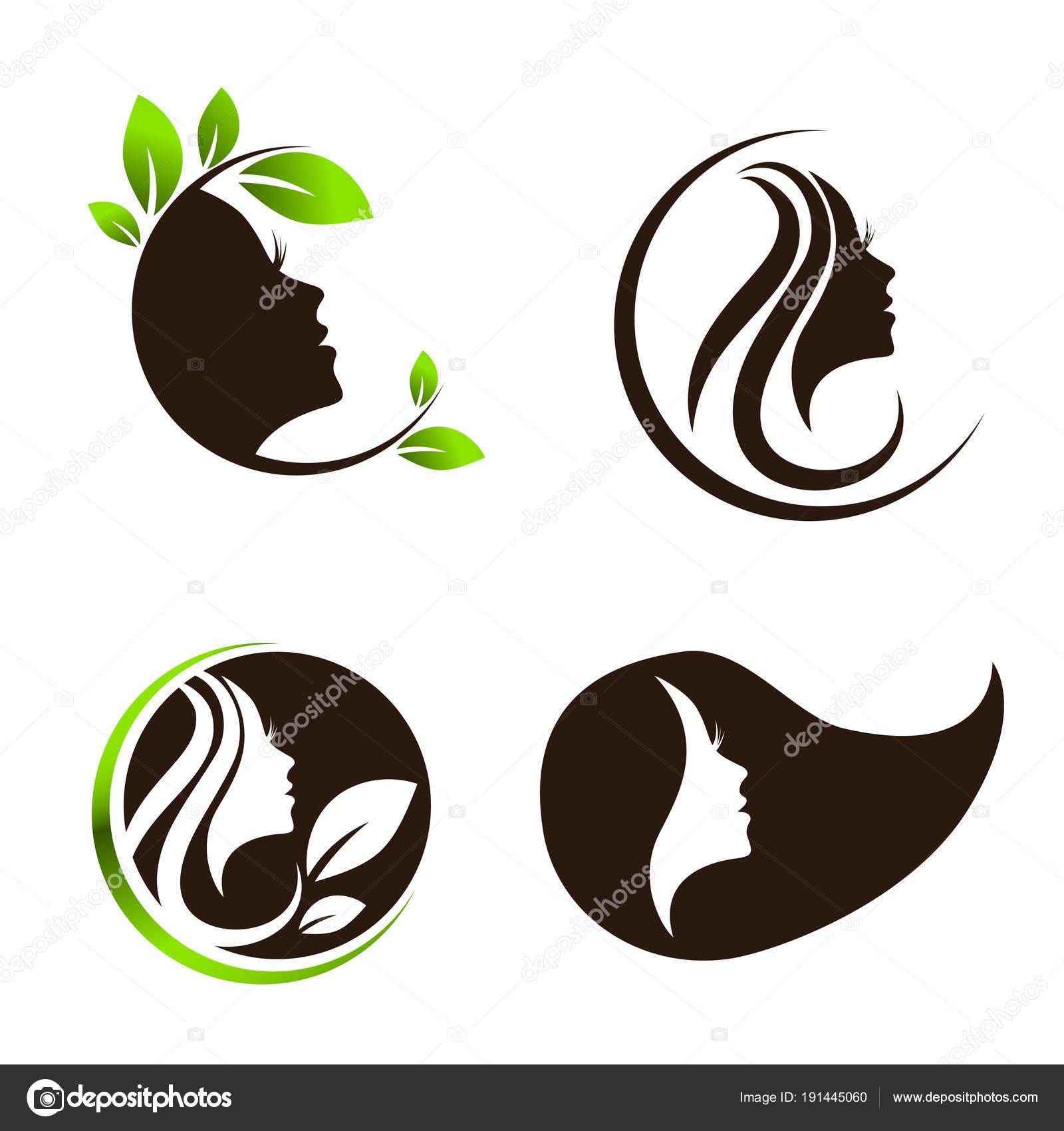 Woman Beauty Hair Spa Salon Logo Design Set Stock Vector C S Razvodovskij 191445060