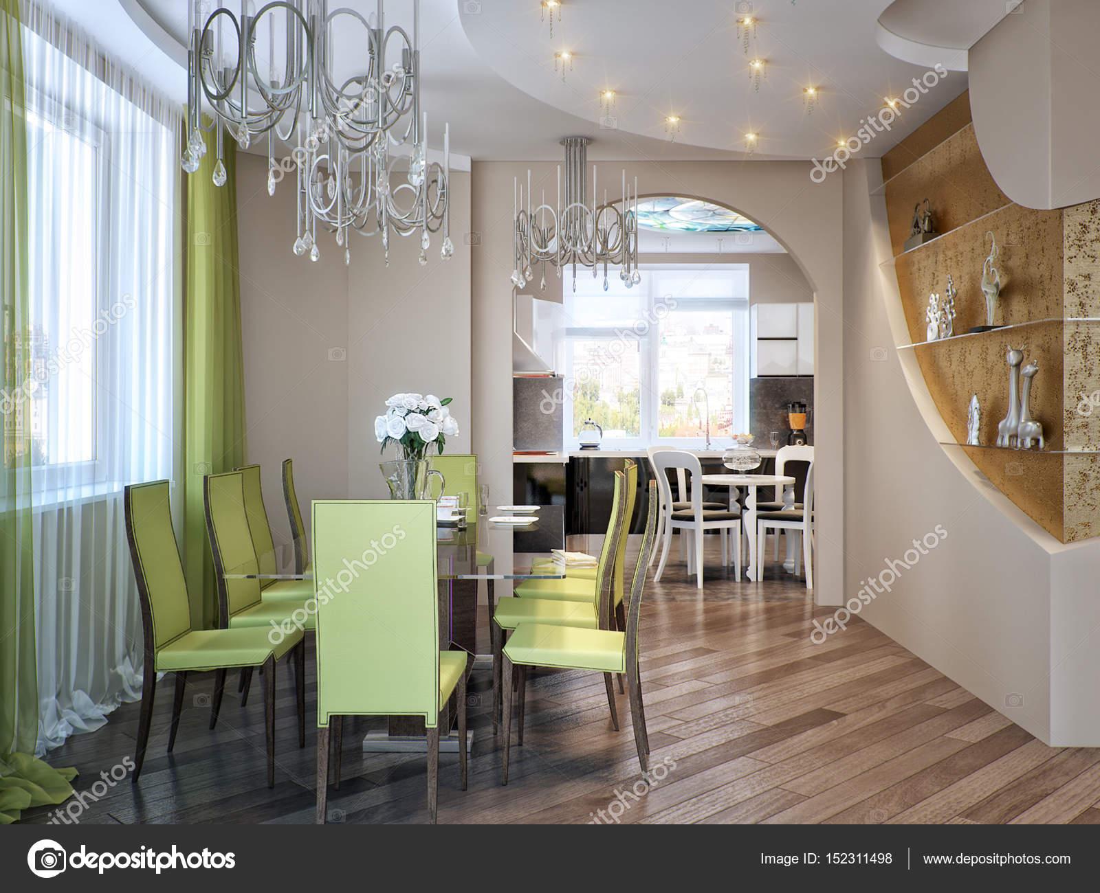 Hochwertig Moderne Urbane Moderne Esszimmer Und Küche U2014 Stockfoto
