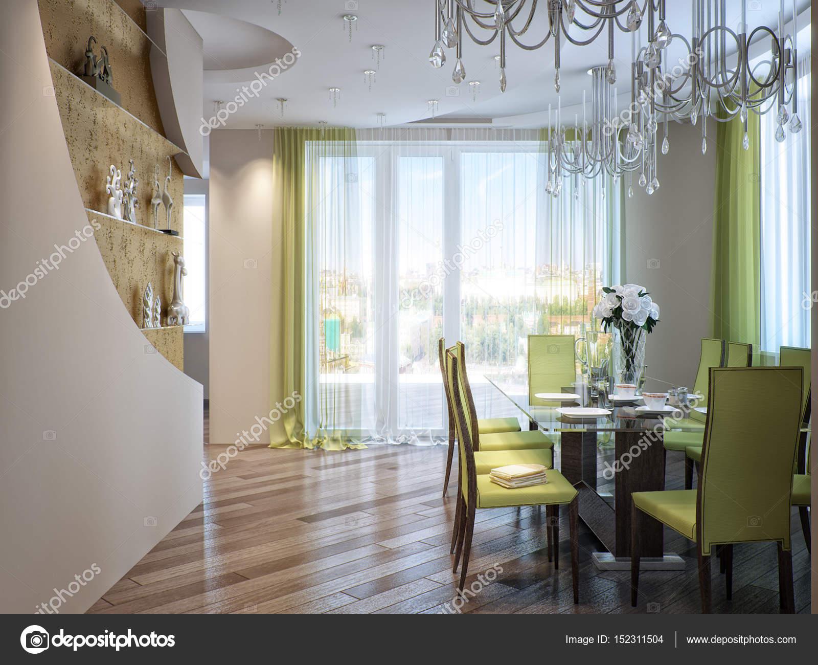 Sala Da Pranzo Contemporanea : Moderna urbana contemporanea sala da pranzo e cucina u foto stock