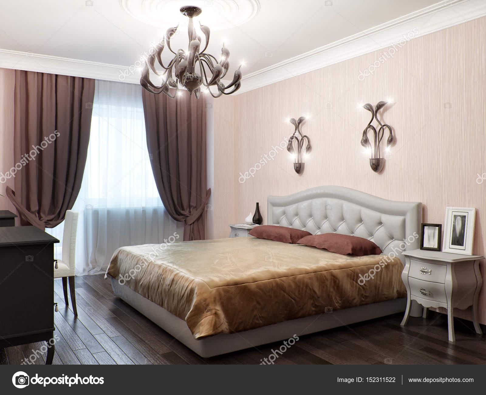 Design d\'interni classico contemporaneo e urbano della camera da ...