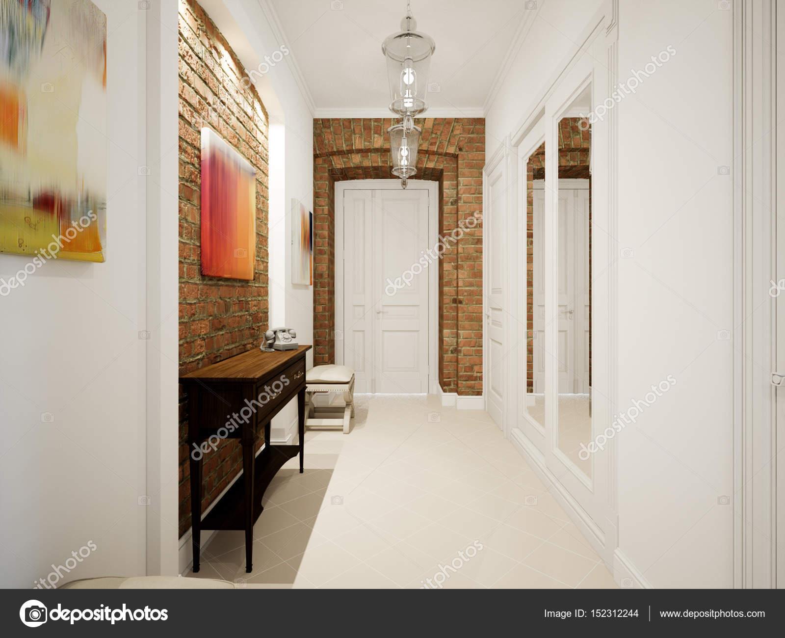 Moderno Cl Ssico Hall Corredor Corredor No Antigo Apartamento