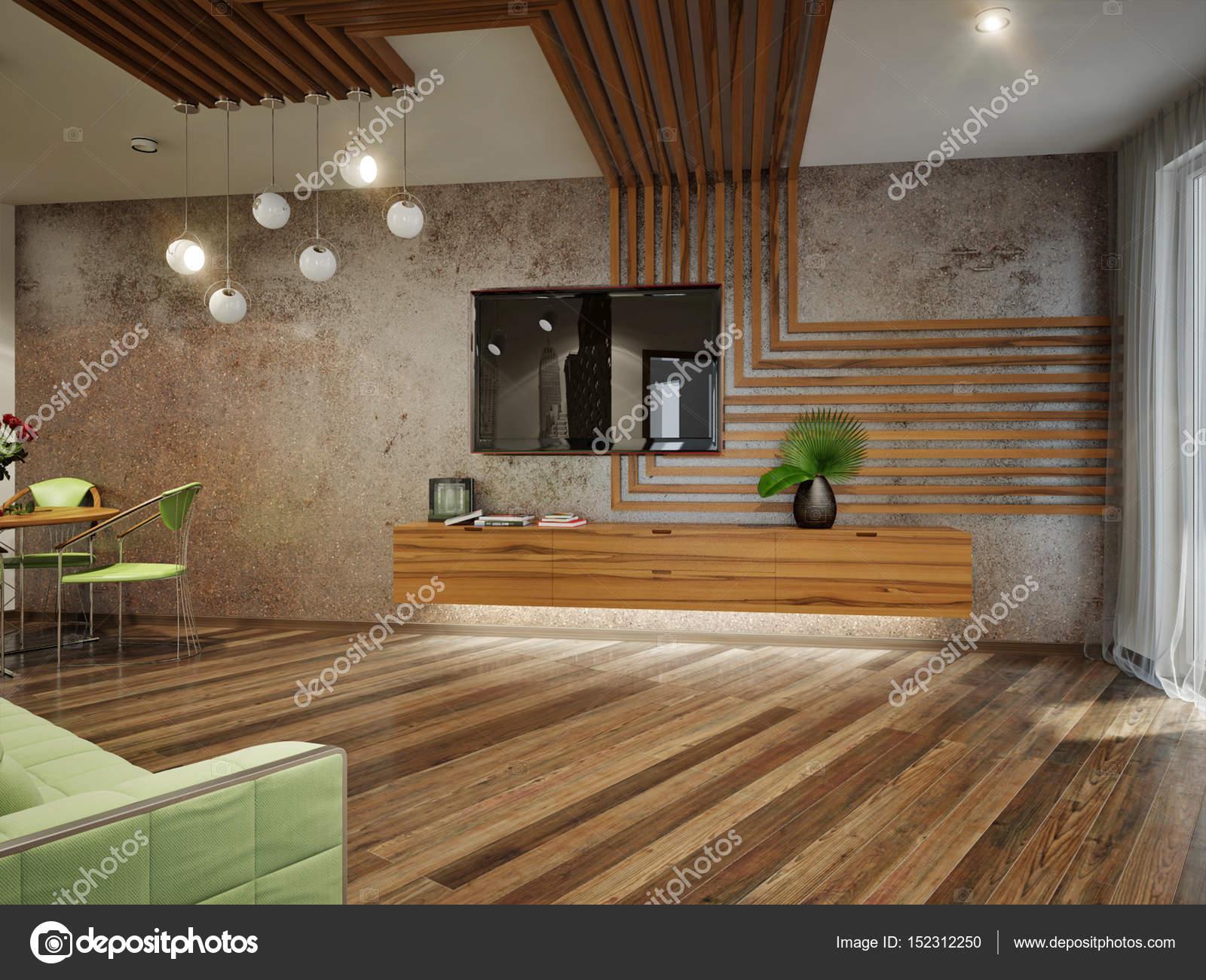 Design intérieur moderne salon contemporain urbain ...