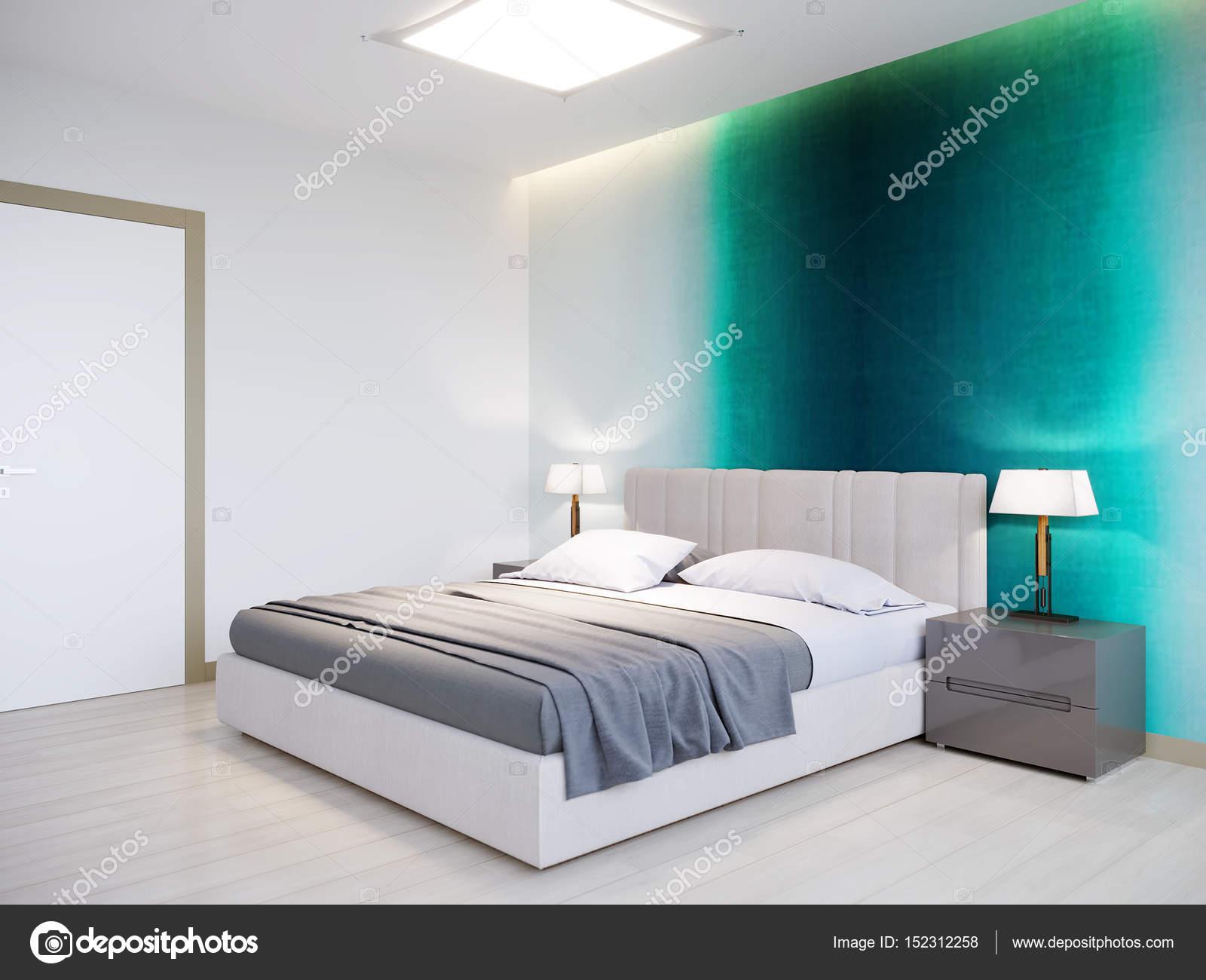 Camera da letto moderna contemporanea urbano Interior Design — Foto ...