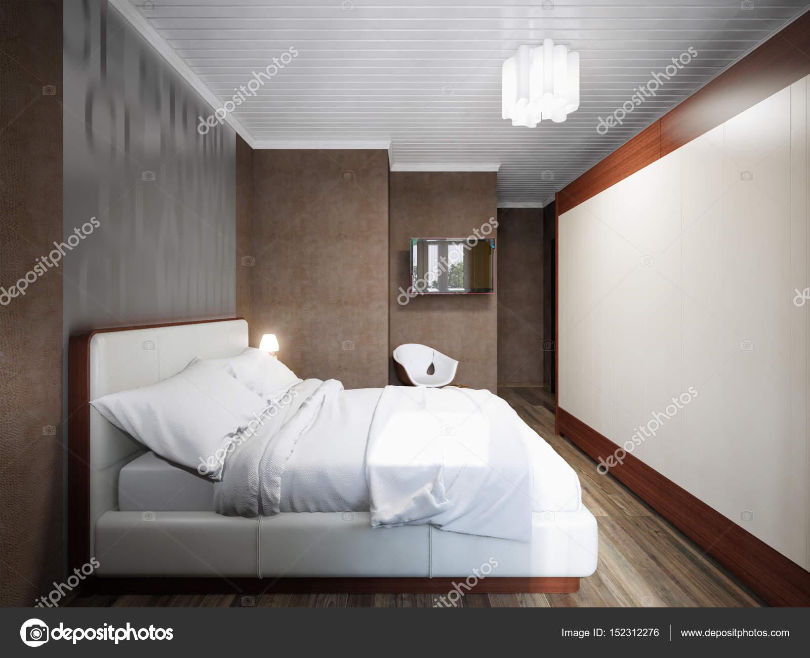 Stedelijke hedendaagse moderne kleine slaapkamer interieur design