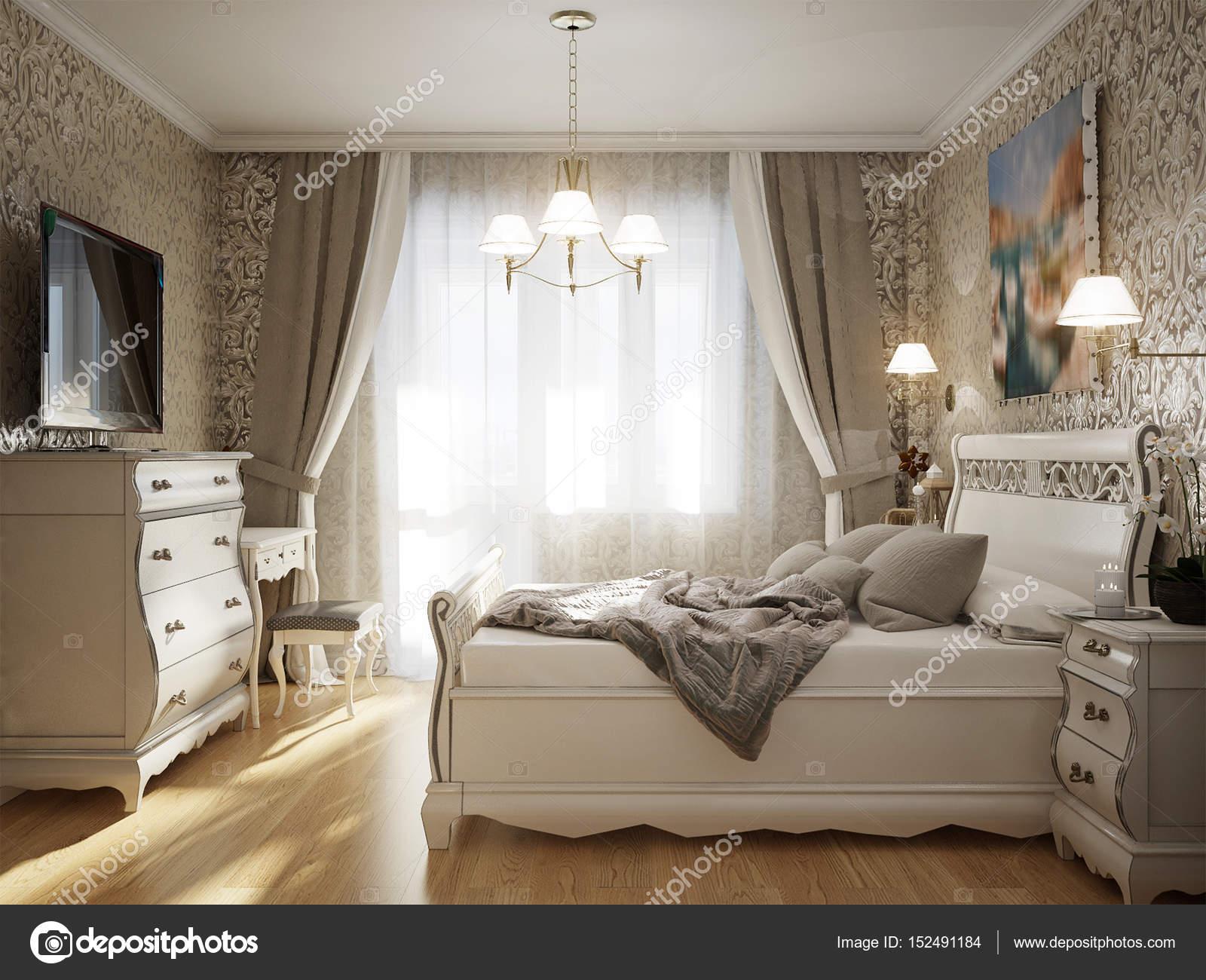 Camere Da Letto Tradizionali : Camera da letto classica tradizionale interior design u foto stock