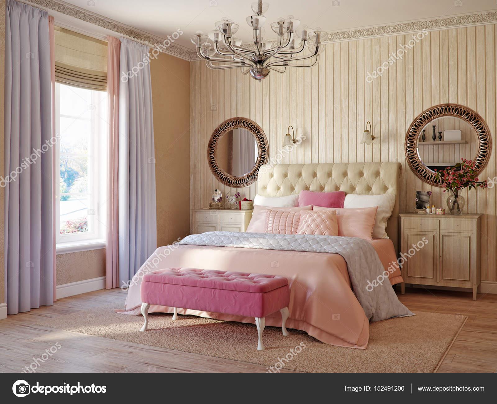 Traditionelle klassische moderne Provence rustikale Schlafzimmer ...