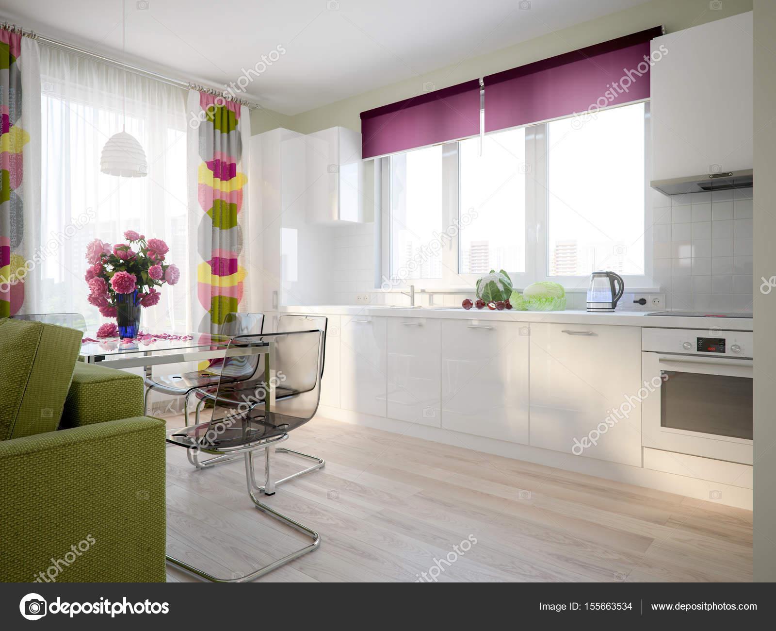 Modernen städtischen zeitgenössischen skandinavischen Studio ...