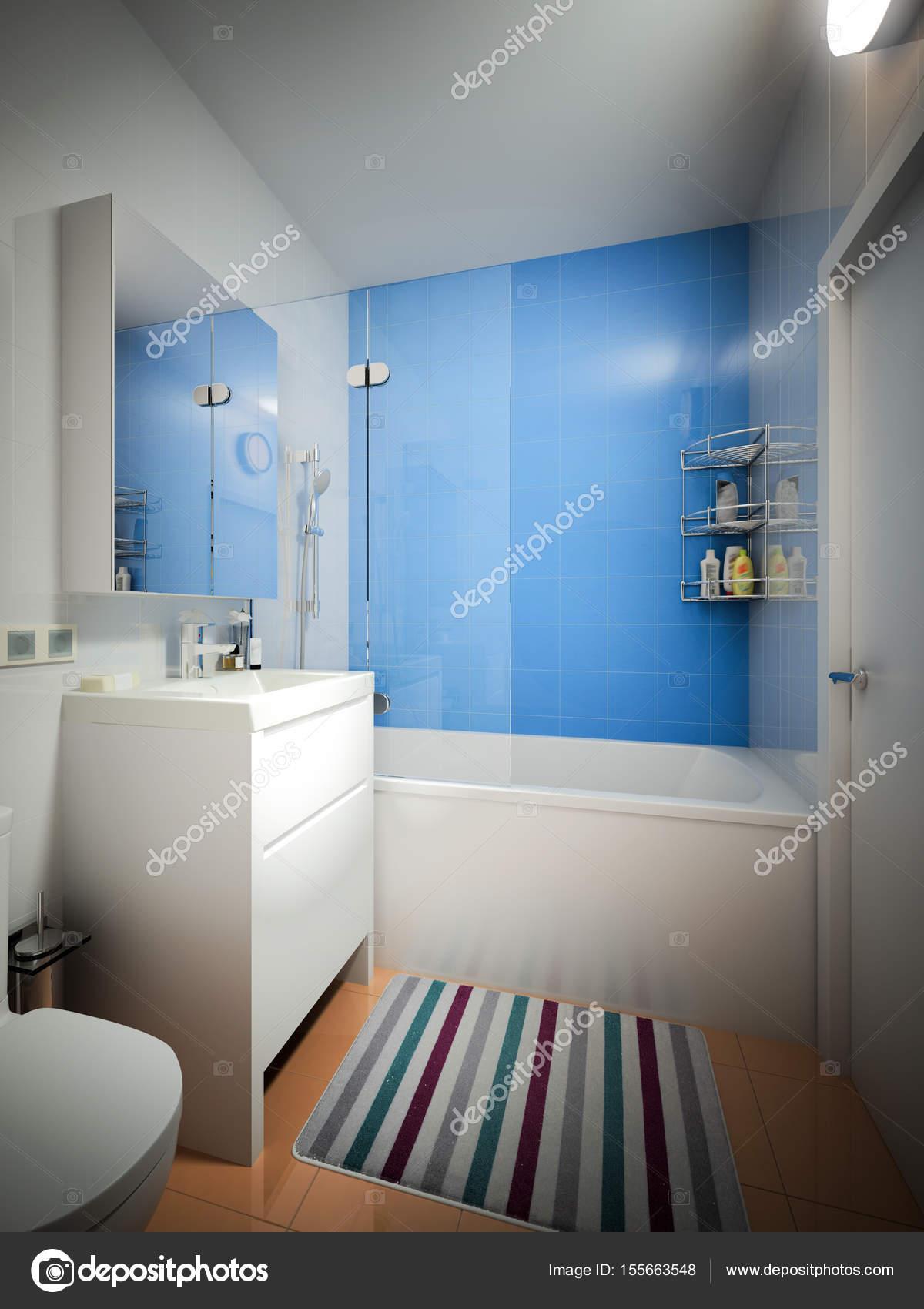 Moderne städtische zeitgenössische Badezimmer Wc Interieur ...