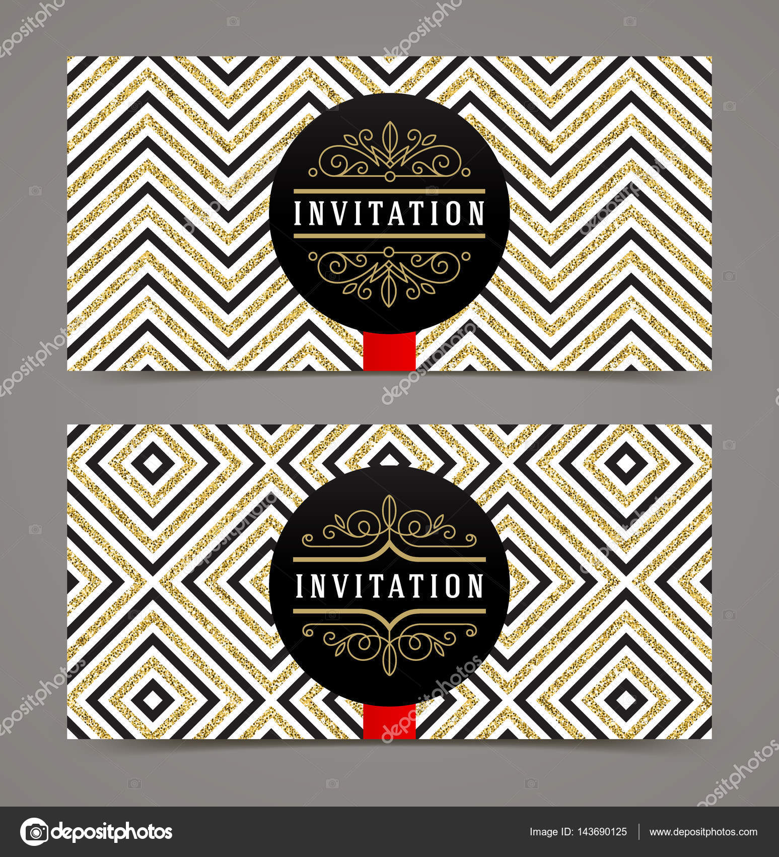 Vector template design for invitation black space for text on a vector template design for invitation black space for text on a glitter gold geometric background stopboris Image collections