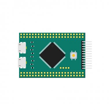 DIY electronic micro board with a microcontroller