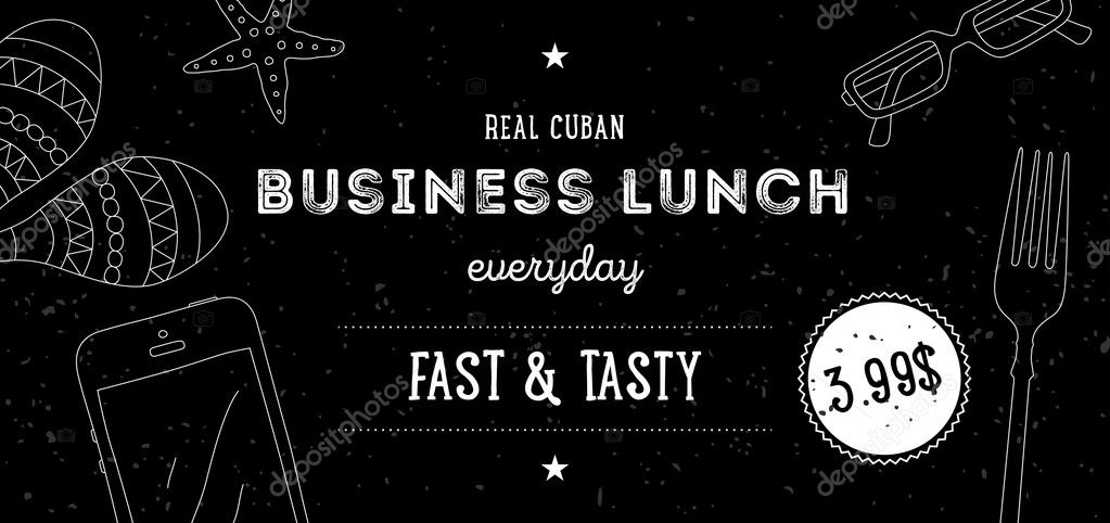 Business Lunch Flyer Template  Stock Vector  Sokolfly