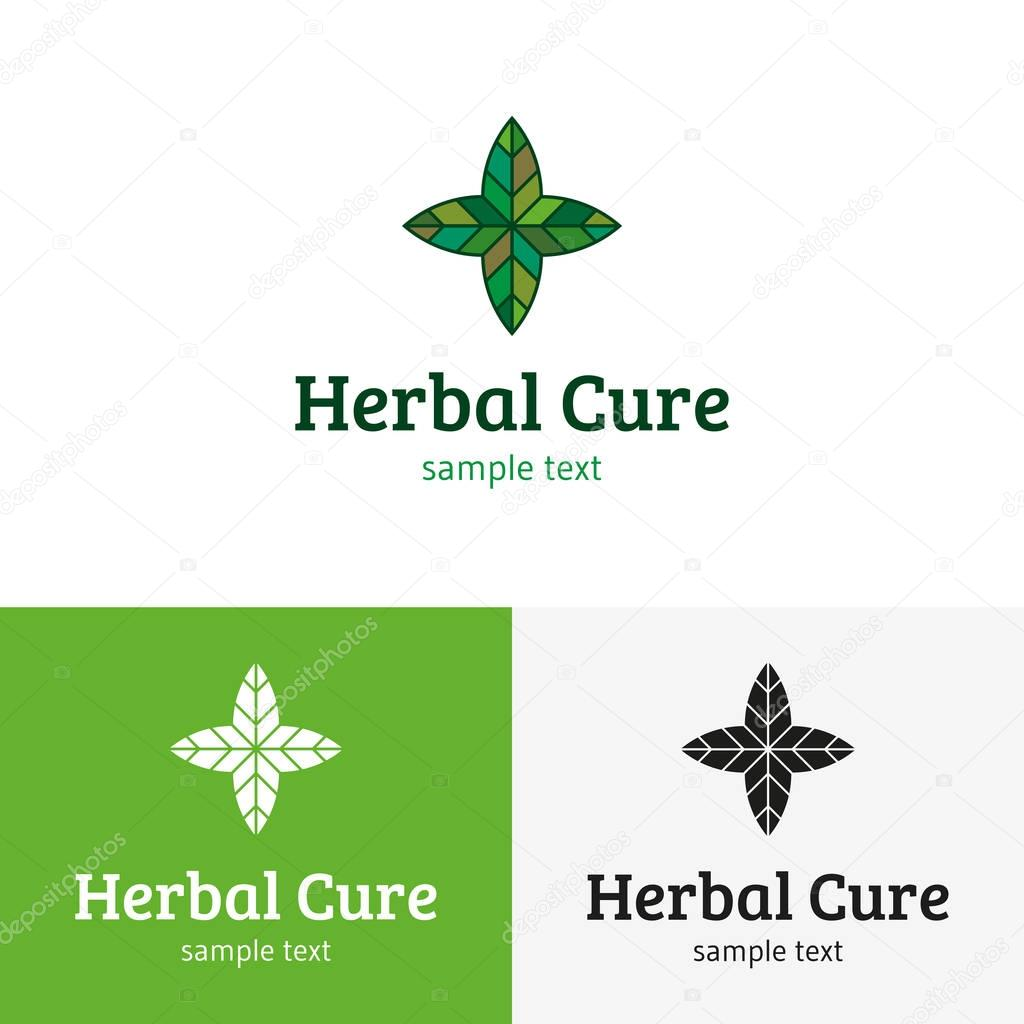 Herbal Cure Logo Template