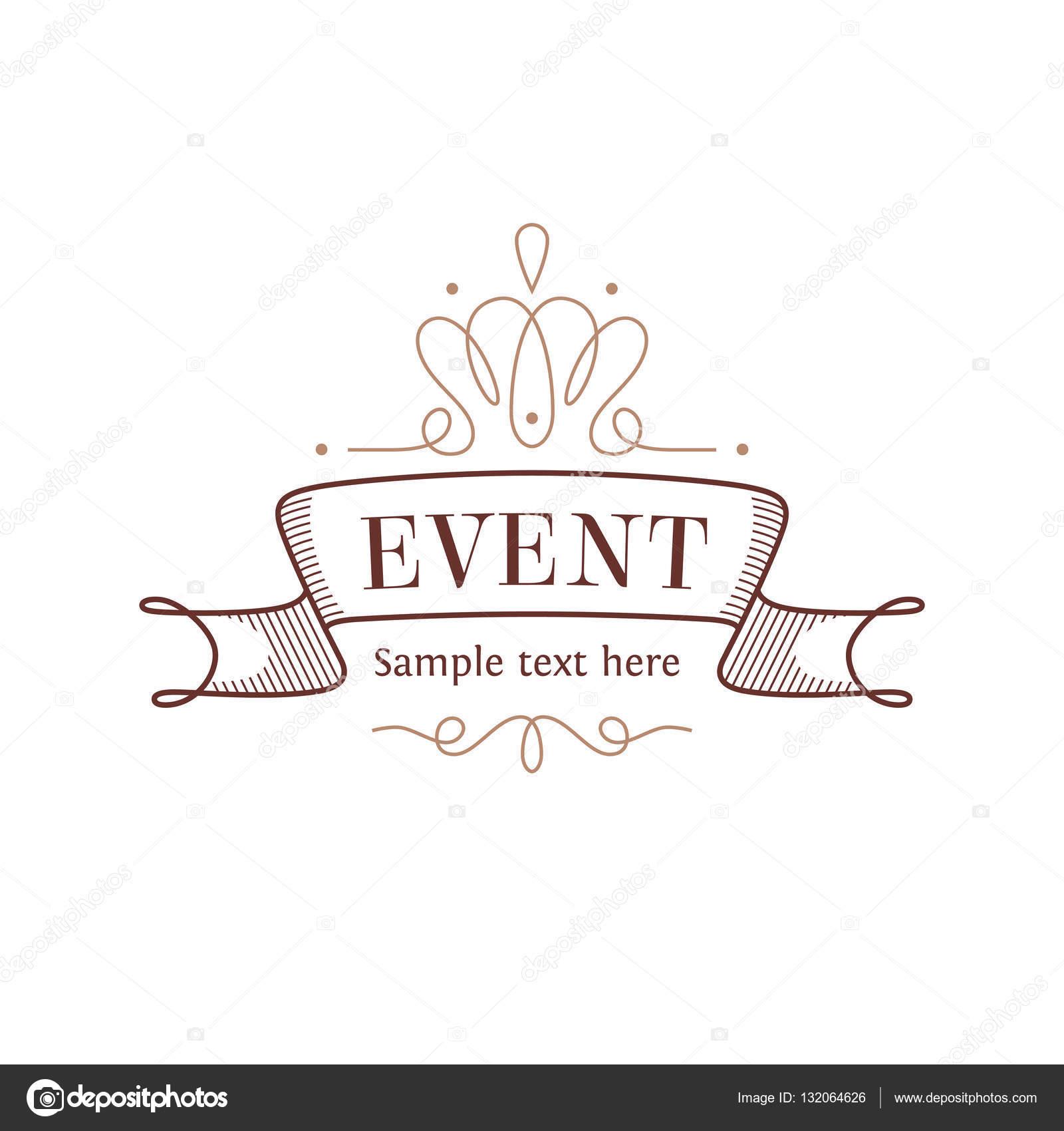 Event logo template stock vector sokolfly 132064626 for Decor logo