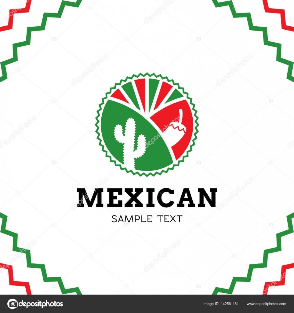 Vector mexican food logo design stock vector sokolfly for Mexican logos images