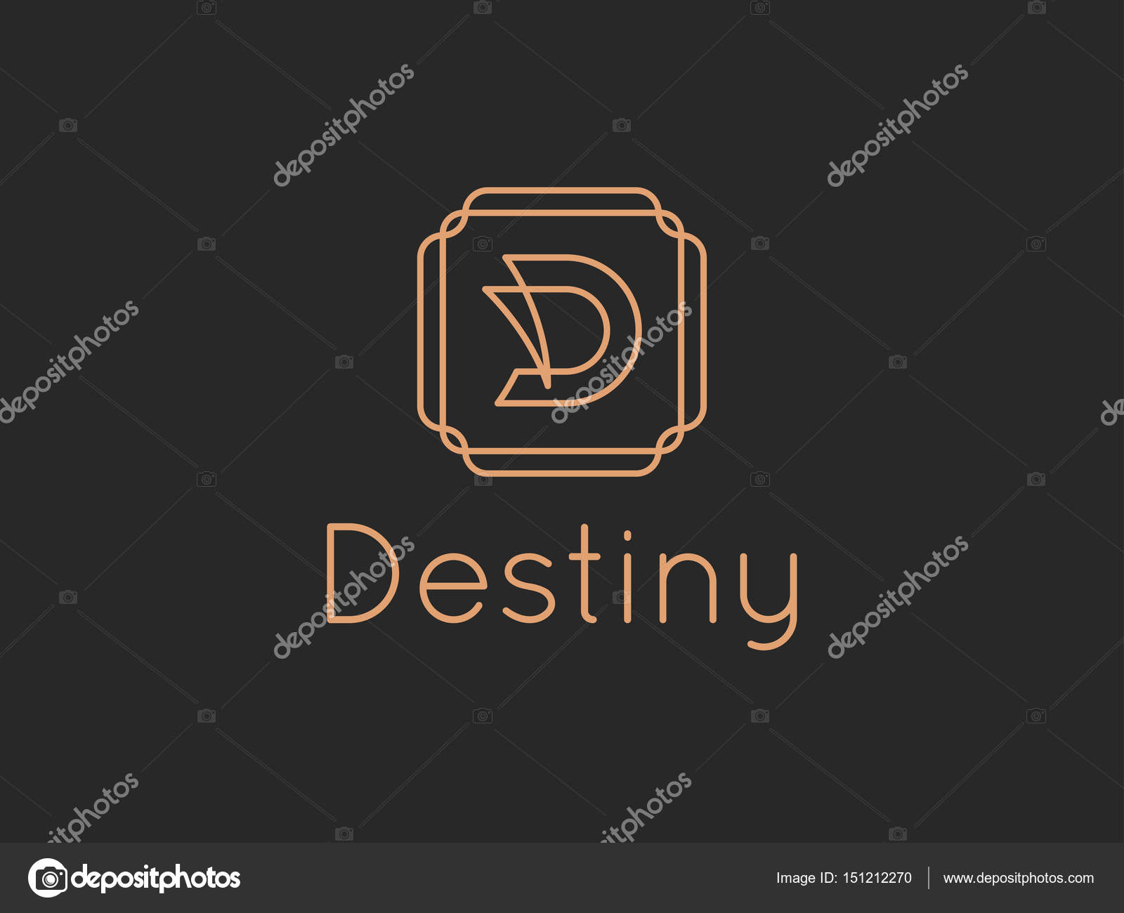 Letra D destino alfabeto logotipo — Archivo Imágenes Vectoriales ...