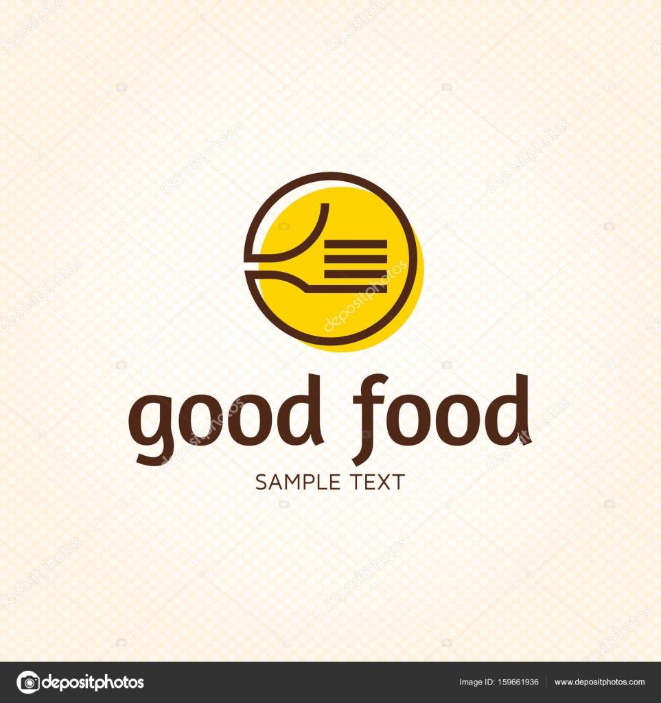 Gutes Essen wie Logo-Vorlage — Stockvektor © sokolfly #159661936