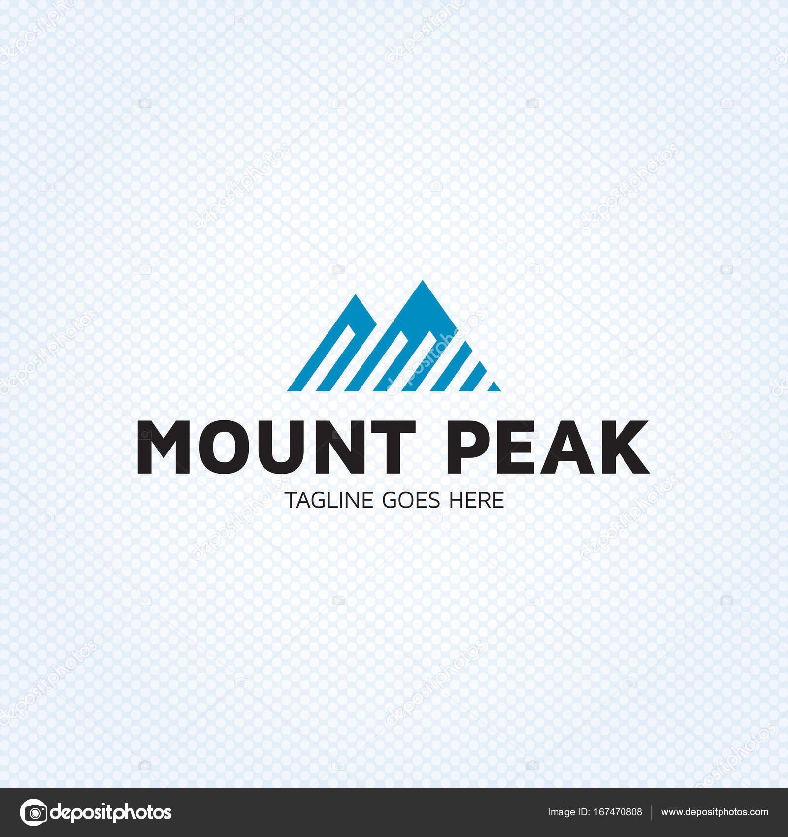 Plantilla de diseño de Logo de pico de Monte — Archivo Imágenes ...