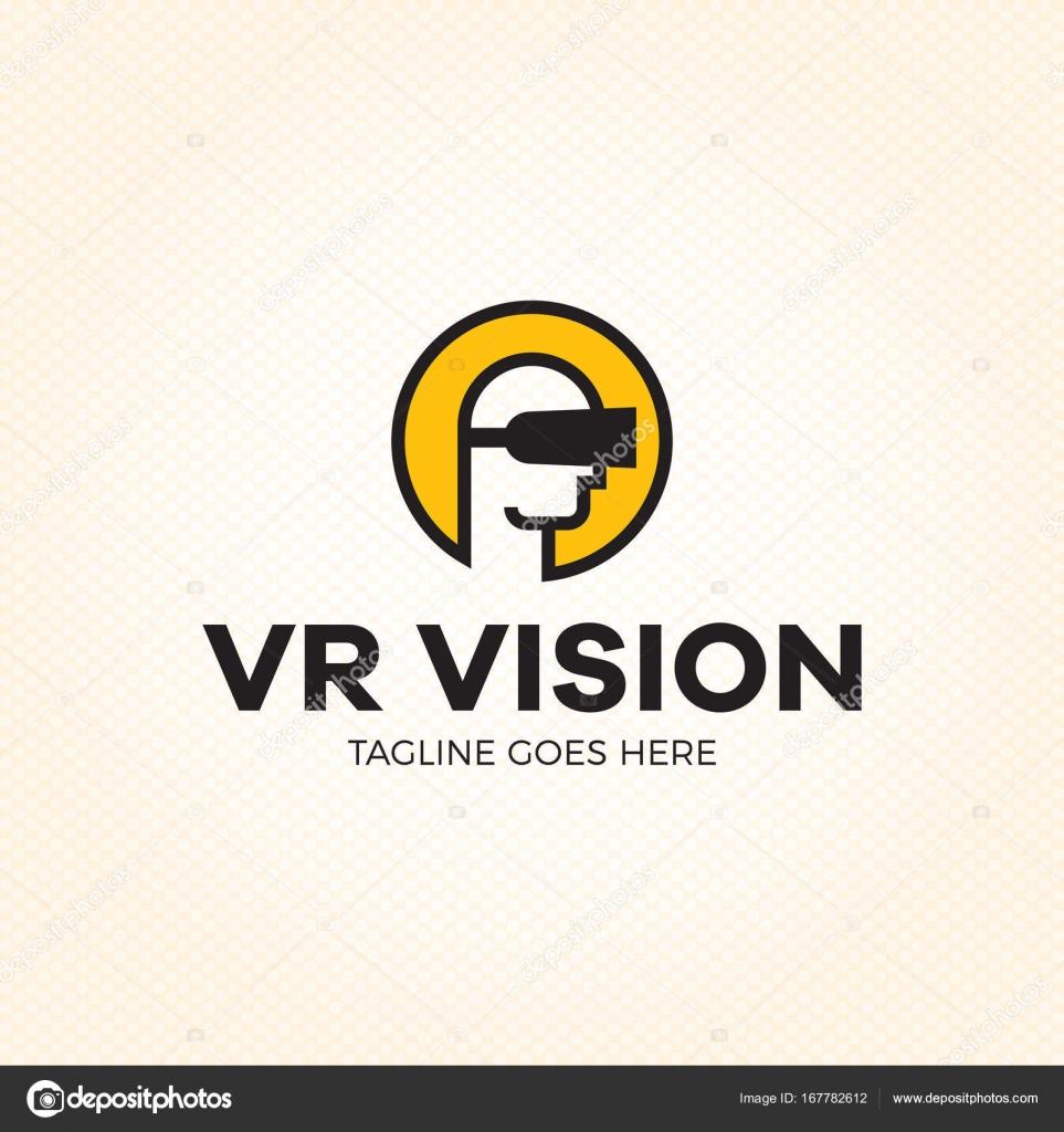 vr ビジョン仮想現実のロゴのテンプレート ストックベクター