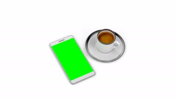 Espresso káva a smartphone