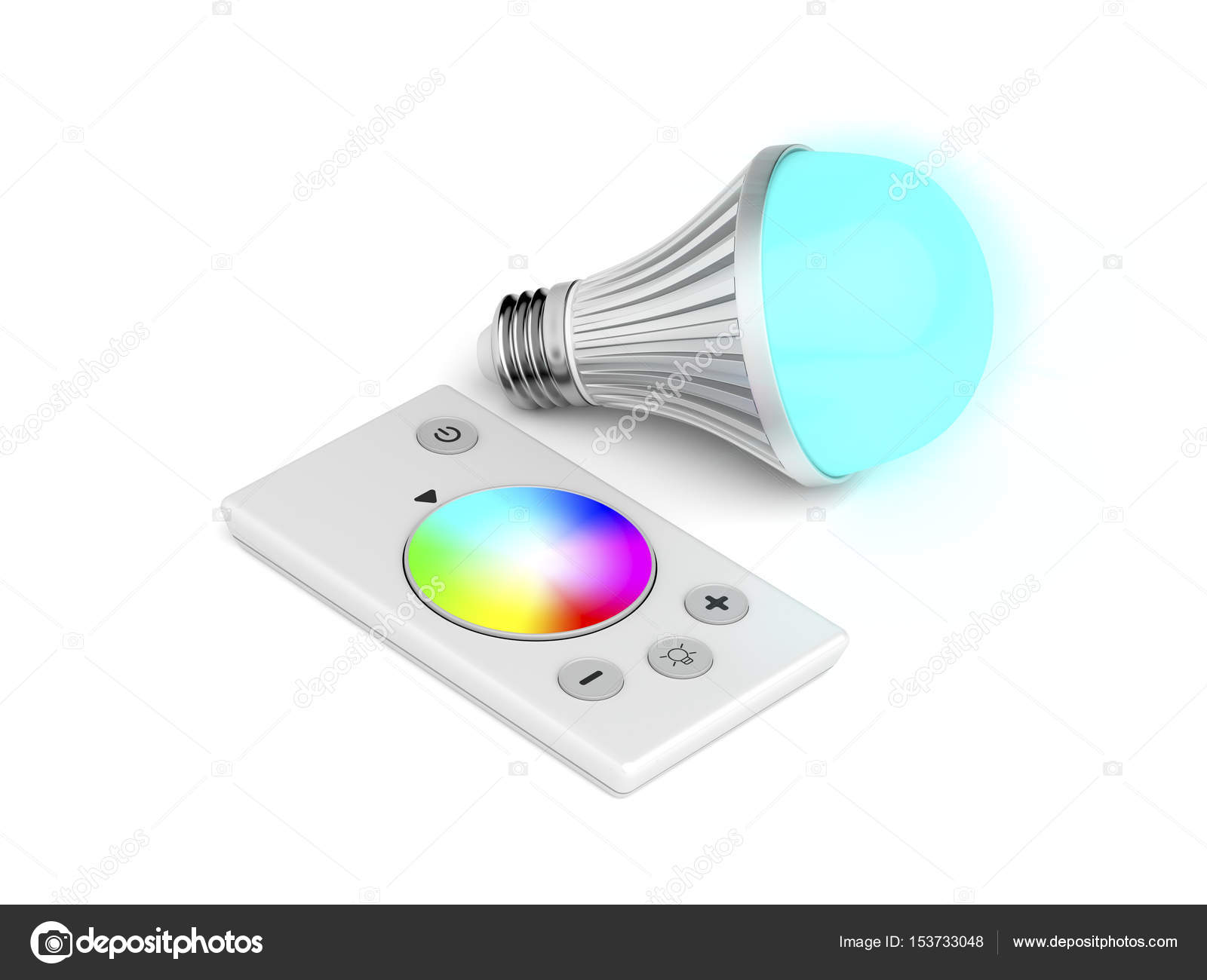 Fernbedienung und Led Lampe — Stockfoto © magraphics #153733048