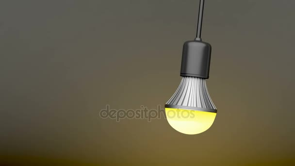 Swinging LED light bulb
