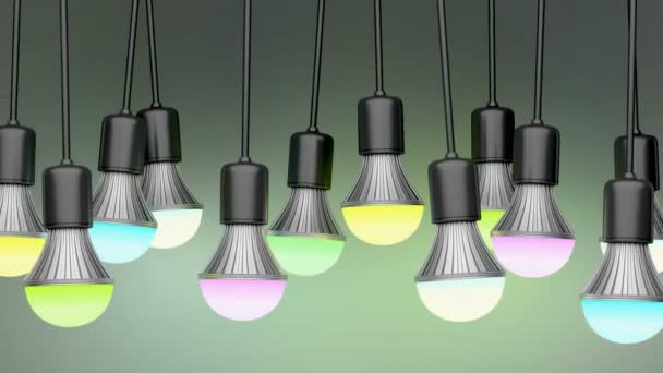 Colorful LED light bulbs