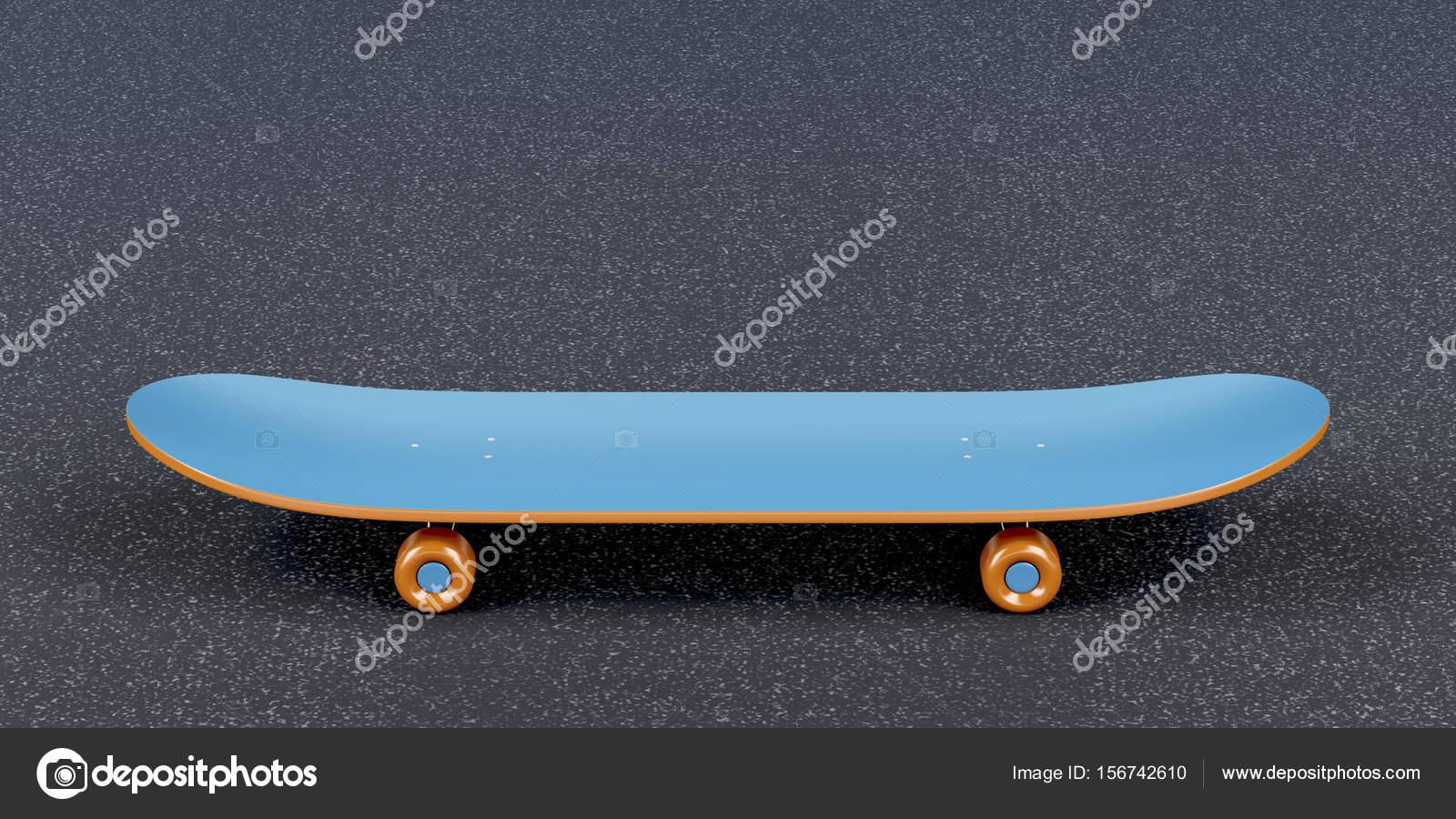 Blaue Skateboard - Seitenansicht — Stockfoto © magraphics #156742610