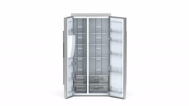 Leere Side-by-Side-Kühlschrank