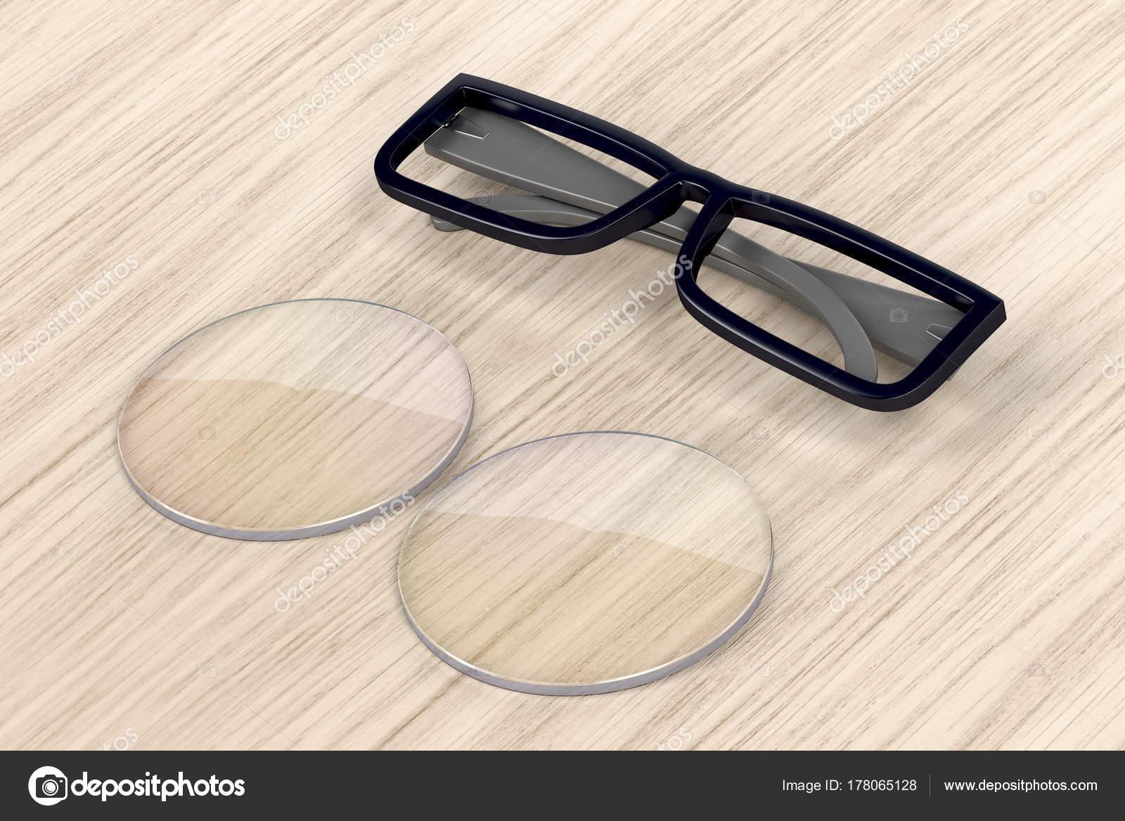 Brillen-Rahmen und Objektiv — Stockfoto © magraphics #178065128