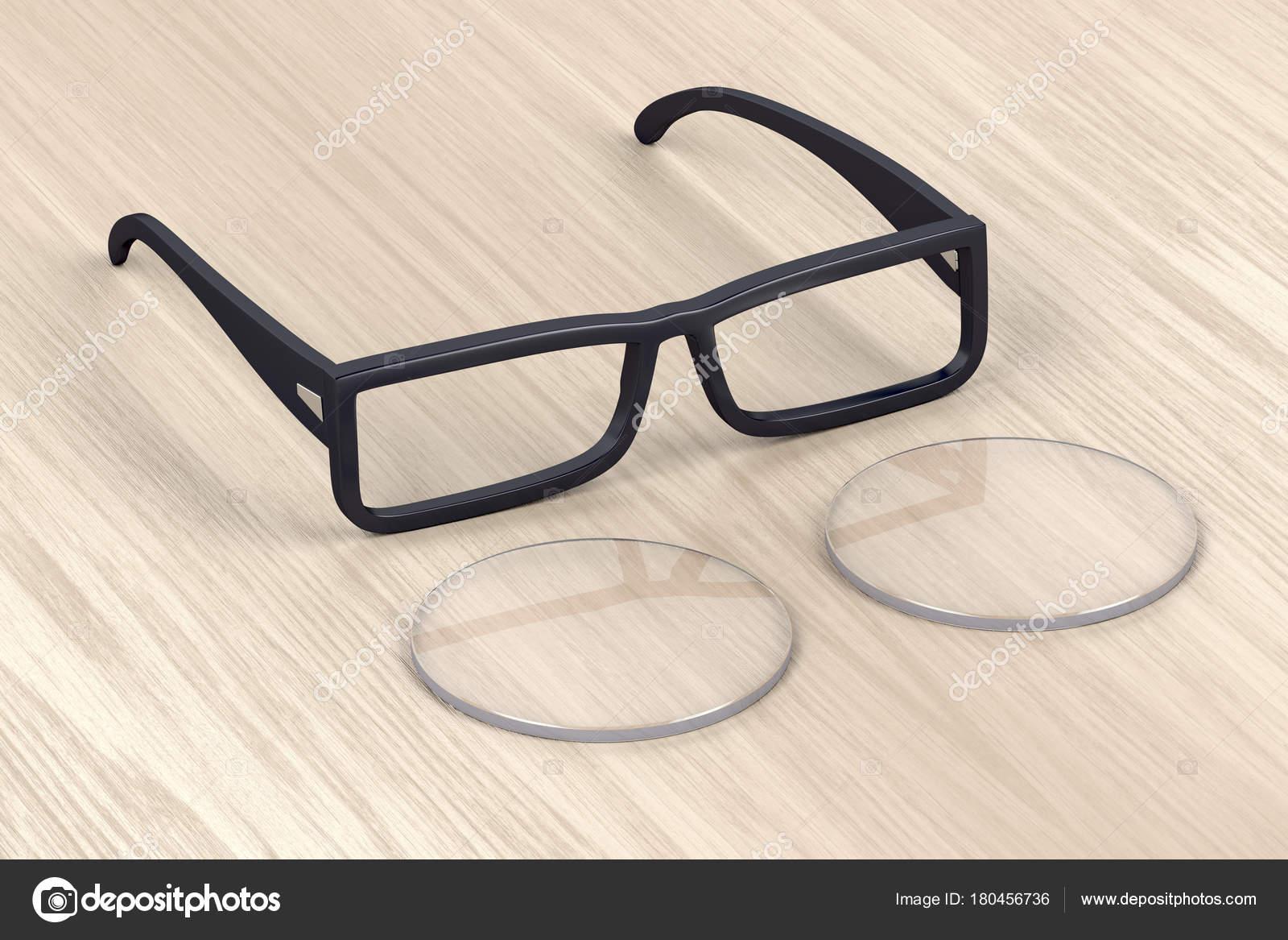 Brillen-Rahmen und Objektiv — Stockfoto © magraphics #180456736
