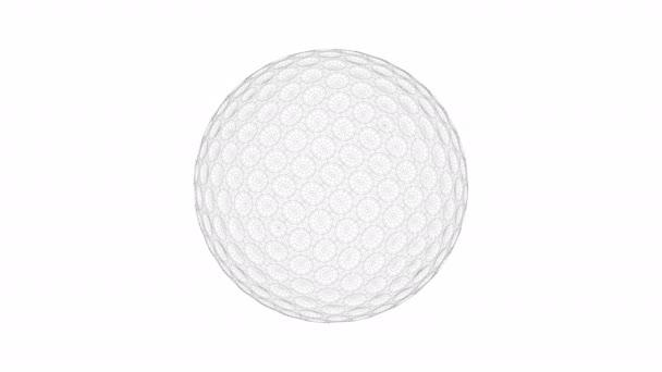 3D wire-frame model golfového míčku
