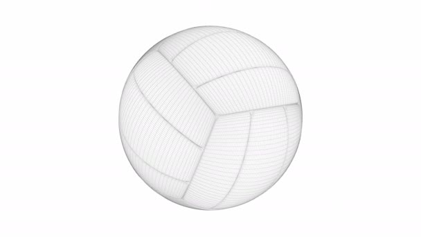 3D model volejbalu na bílém pozadí