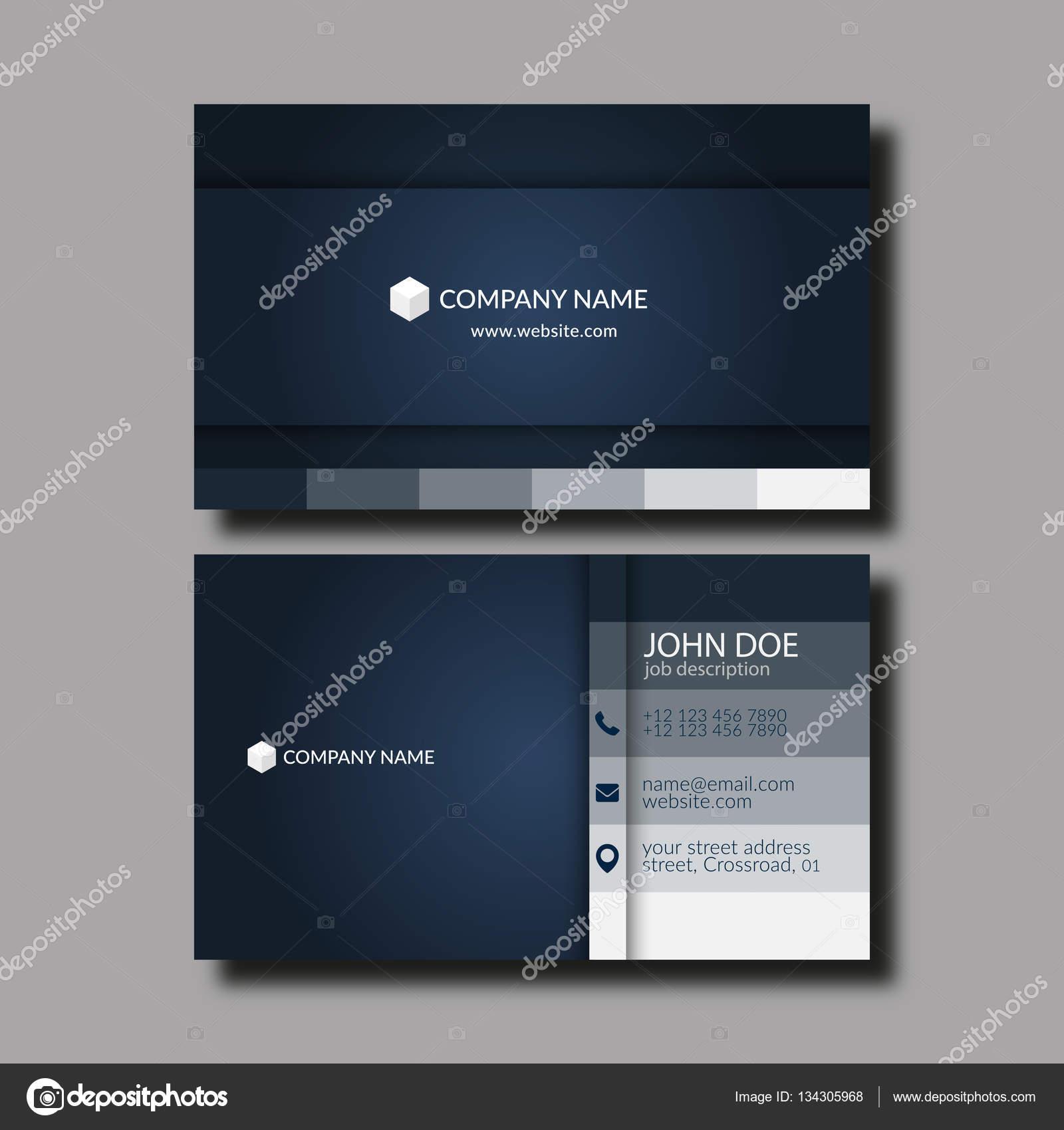 Modle De Carte Visite Image Vectorielle Eps10 Vector Illustration Abstraite Lgant Business Card Template Vecteur Par Zzoplanet