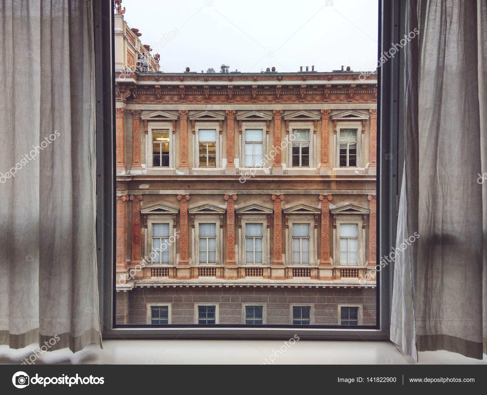 View Of Vienna Academy Of Fine Arts From Inside House Stock Photo
