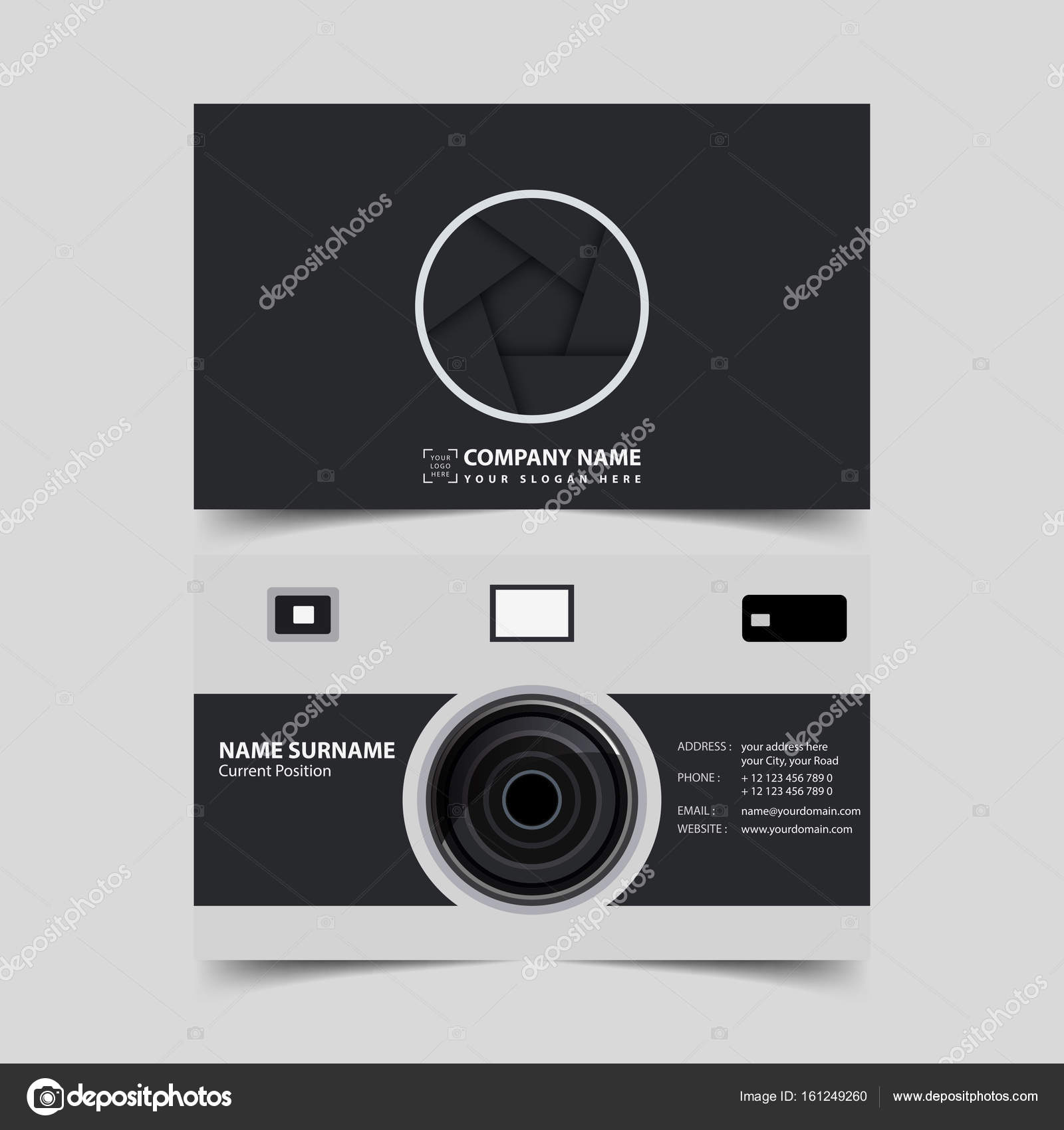 Photographer business card design template stock vector photographer business card design template stock vector reheart Images