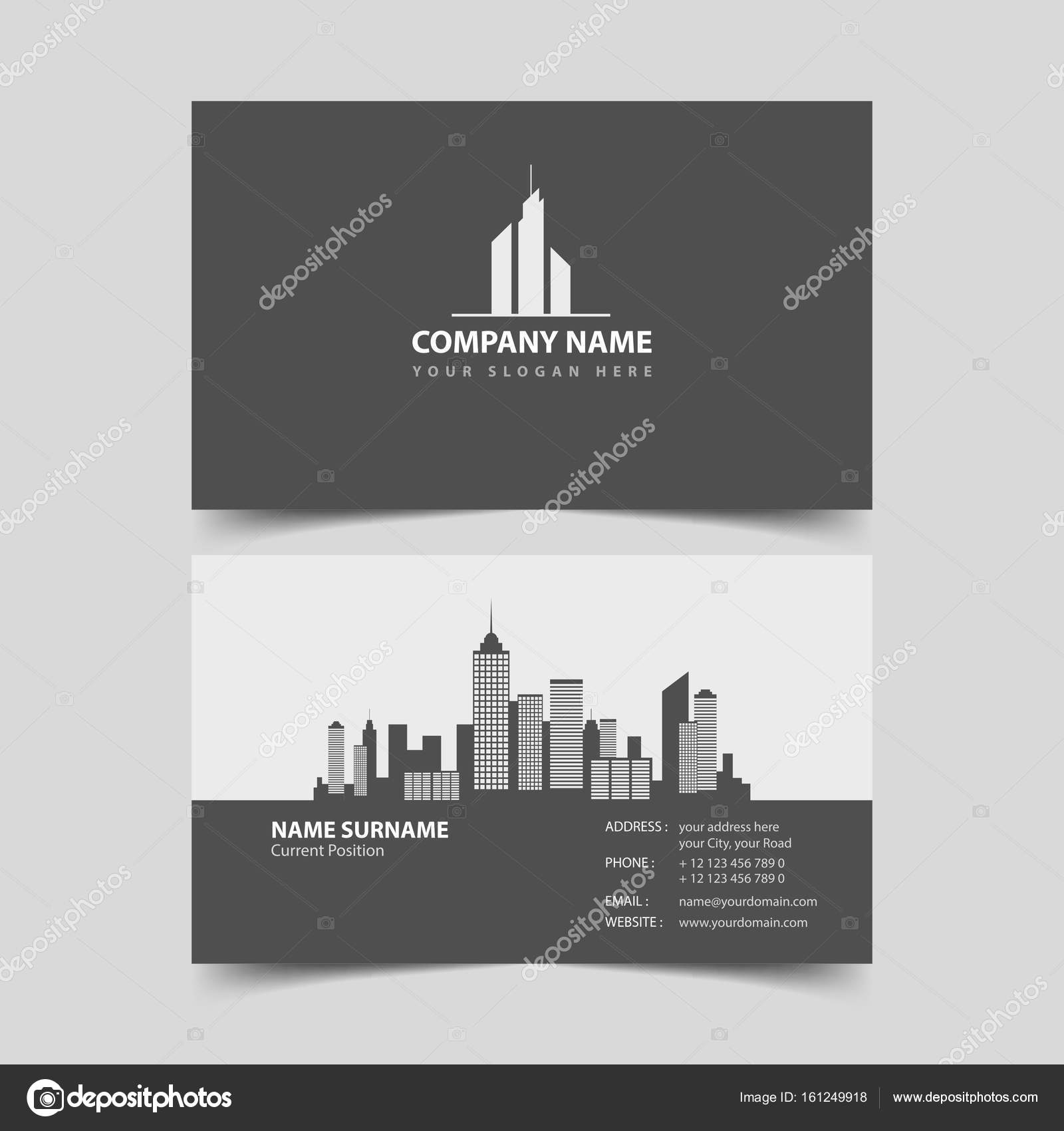 Realtor Business card design template. — Stock Vector © zzoplanet ...