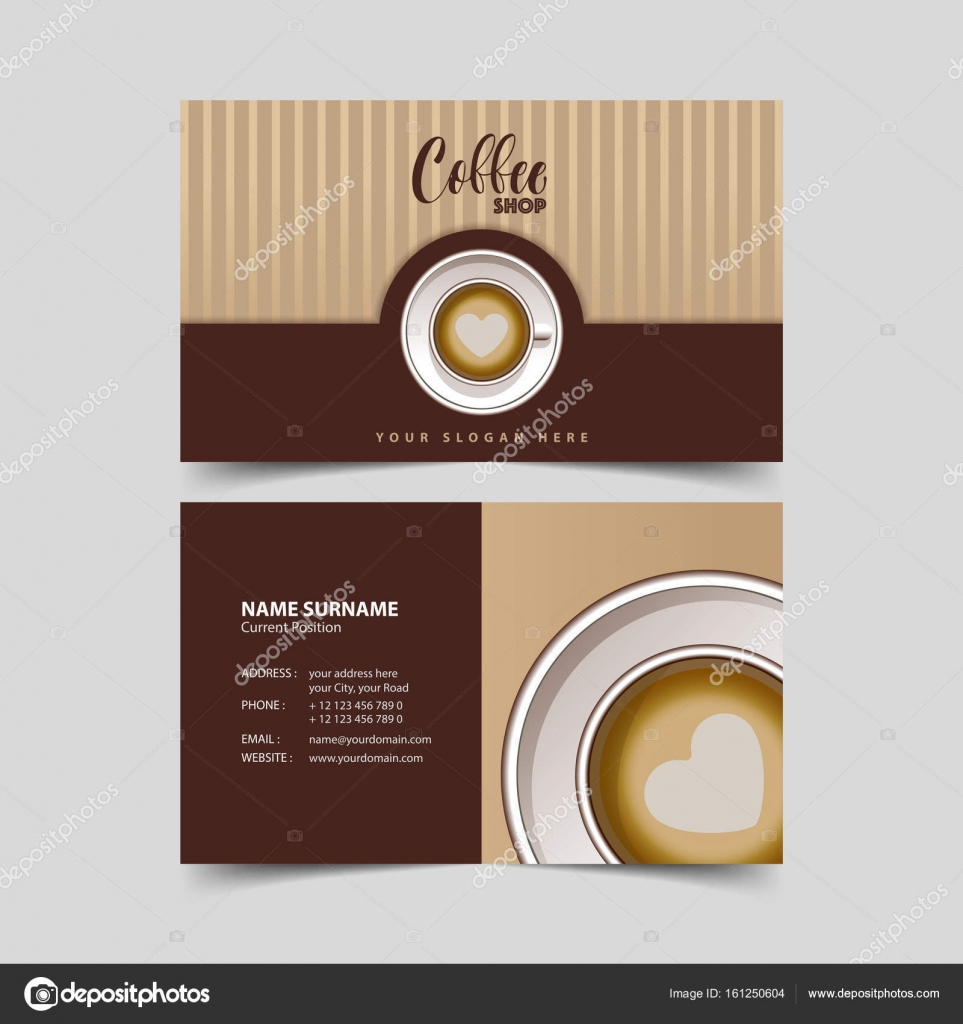 Coffee shop business card design template stock vector coffee shop business card design template stock vector accmission Image collections