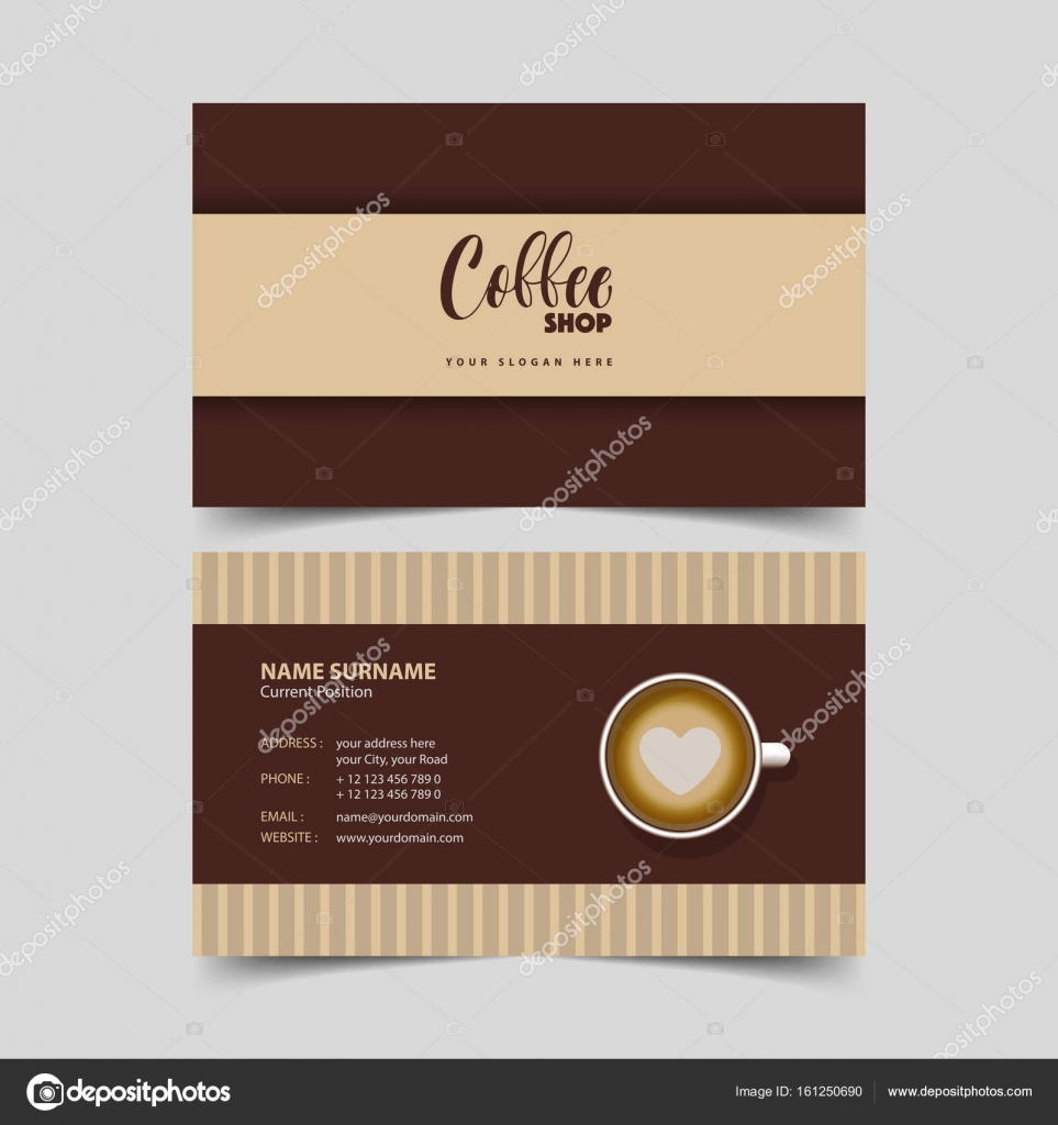 Coffee shop business card design template stock vector coffee shop business card design template stock vector reheart Images