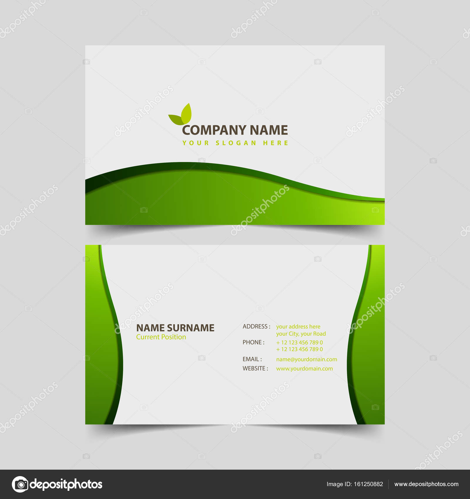 Eco friendly business card design template stock vector eco friendly business card design template stock vector colourmoves