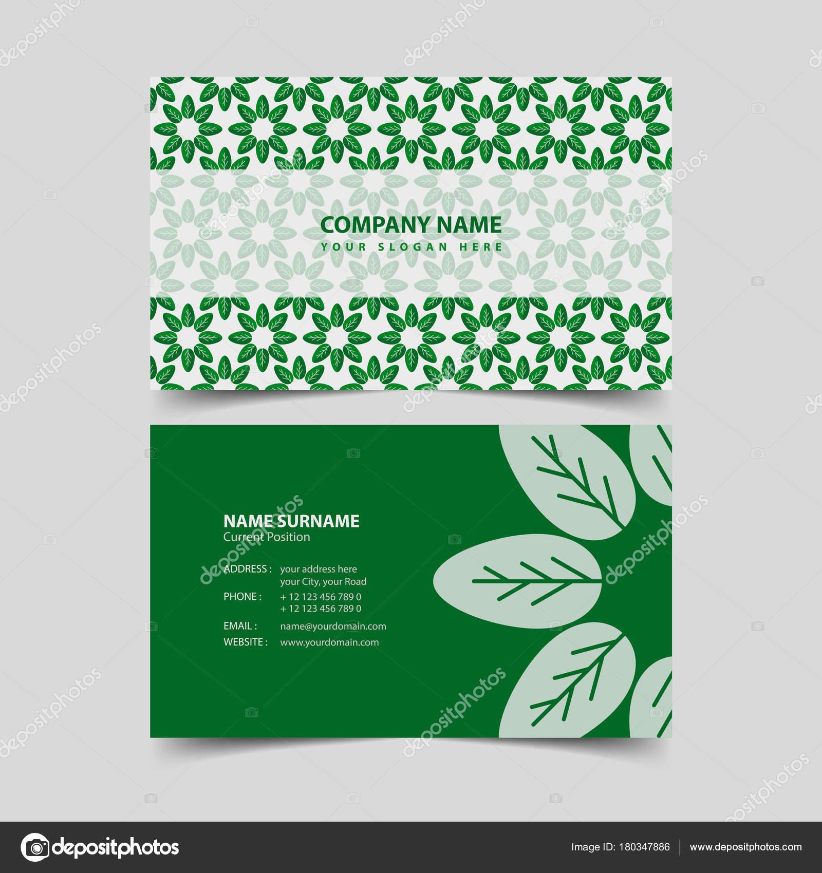 Eco friendly business card design template stock vector eco friendly business card design template stock vector colourmoves