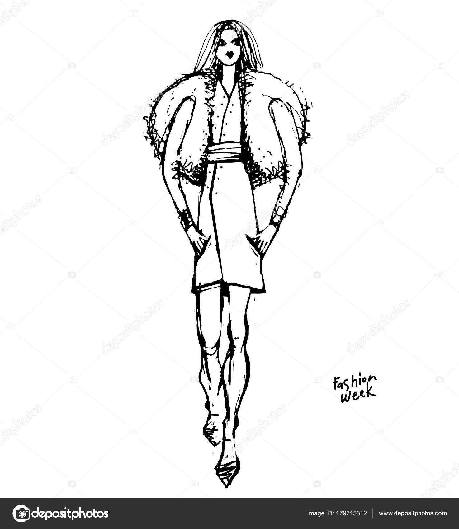 Fashion Sketchbook Fashion Design Development Black White Sketch Clothes Sketch Stock Vector C Iralu1 179715312