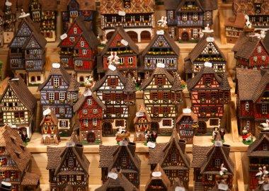 Alsatian houses on the Christmas market