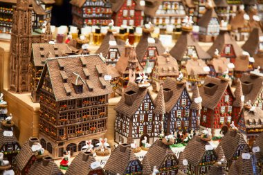Alsatian houses on the Christmas market